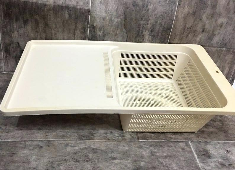 Over The Sink Cutting Board Drain Basket For The Kitchen Hero